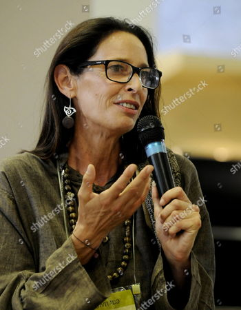 Spanish Designer Paola Dominguin Speaks During a Presentation at Colombiamoda Fair in Medellin Colombia 27 July 2011 Colombia Medell?n
