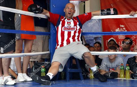 British Boxer Ryan Rhodes Poses During a Training Session in Guadalajara Mexico 15 June 2011 Rhodes Will Fight Wbc's Superwelter World Champion Mexican Saul Alvarez on 18 June 2010 in Guadalajara Mexico Guadalajara