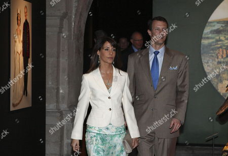 Prince Joachim of Denmark (r) and His Wife Princess Marie Visit the Franz Mayer Museum in Mexico City Mexico on 04 March 2010 where the Prince Presented an Exhibition with a Selection of the Wardrobe and Set Design That His Mother Queen Margarita Ii Created For the Film 'De Vilder Svaner' Mexico Mexico City
