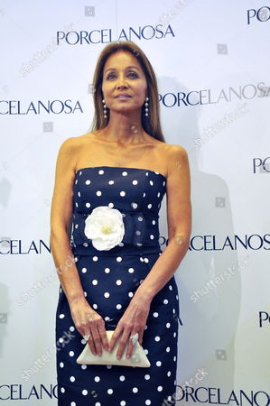Isabel Preysler Former Wife of Spanish Singer Julio Iglesias and Mother of Enrique Julio Jr and Chabeli Iglesias Poses For Photographs As She Arrives at the Opening of the New Porcelanosa Store in Mexico City Mexico 22 April 2010 Preysler Said She's Excited by the Wedding of Her Son Julio Iglesias Jr with Czech Model Charisse Which is Expected to Take Place in Spain Next Summer Mexico Mexico City