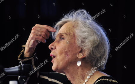 Mexican Writer Elena Poniatowska Speaks During the Presentation of Her Latest Work Called 'Leonora' in Mexico City Mexico 28 February 2011 the Book is Inspired in the Life of the Mexican Born in United Kingdom Leonora Carrington 'A Generous and an Passionated Woman' who 'Is Probably the Last Representation of the Surrealism in Mexico' Said Poniatowska Mexico Mexico City