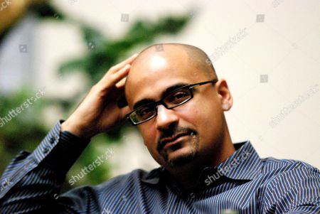Dominican-american Writer Junot Diaz Awarded with the Pulitzer Prize 2008 Poses in Monterrey Nuevo Leon Mexico 11 October 2008 where He Will Introduce His Awarded Novel 'The Brief Wondrous Life of Oscar Wao' at the International Monterrey Book Fair Diaz is the Second Writer From Latin America That Has Been Awarded with the Pulitzer Prize Mexico Monterrey