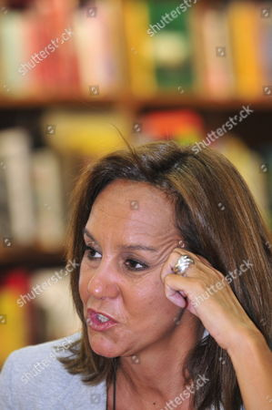 Spanish Writer Maria Duenas Speaks During an Interview in Mexico City Mexico 06 September 2010 She Will Launch Her Novel 'El Tiempo Entre Costuras' in Four Latin American Countries: Mexico Colombia Brazil and Argentina Mexico Mexico City