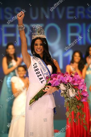 A Picture Made Available 05 November 2010 Shows New Miss Puerto Rico Universe 2011 Viviana Ortiz As She Celebrates After Winning the Crown During the National Beauty Contest at the San Juan Convention Center in San Juan Puerto Rico 04 November 2010 Viviana Ortiz 23 Years Old Imposed Herself Over Her Competitors and Satisfied the Expectations That As One of the Favorites Puerto Rico San Juan