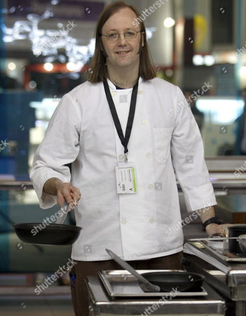 Stock Picture of New York Restaurant Wd-50's Chef Wylie Dufresne During the Opening of 17th Edition of Food and Drink International Fair 'Alimentaria 2008' in Barcelona Spain 10 March 2008 5000 Stands From 150 Countries Will Take Part in 'Alimentaria 2008' Which Will Run Until Next Friday 14 March 2008 Spain Barcelona