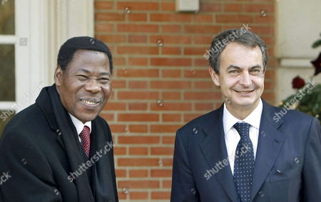 Editorial photo of Spain Benin President - Dec 2009