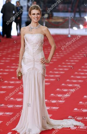 Ukrainian Actress Natasha Yarovenko Poses Upon Her Arrival to the Awarding Ceremony of the 25th Edition of the Goya Cinema Awards at Royal Centre in Madrid Central Spain on 13 February 2010 Spain Madrid