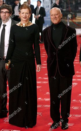 Elena Ochoa Foster Lady Foster of Thames Bank and British Architect Norman Foster (r) Pose While Arriving During the 25th Edition of the Goya Cinema Awards Awarding Ceremony at Royal Theatre in Madrid Central Spain on 13 February 2010 Spain Madrid