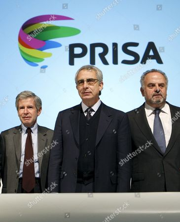 (l-r) French Essayist Alain Minc Former Mexican President Ernesto Zedillo and Spanish Media Group Prisa President Ignacio Polanco (r) Pictured During Extraordinary Shareholders Assambley Held at Ifema South Pavilion in Madrid Spain on 27 November 2010 where Prisa Has Passed the Admission of Us Invest Found Liberty Acquisition Holdings Into Thier Shares Spain Madrid