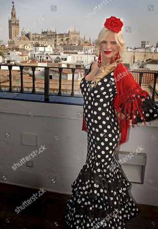 Hungarian-born Italian Politician and Porn-star Ilona Staller Aka 'La Cicciolina' Wears a Flamenco Dress As She Poses For Photographs Ahead of the 1st Edition of the Erotic Festival Entitled 'Eros Andalucia 2009' in Seville Spain 01 October 2009 'La Cicciolina' is the Guest of Honor of the Festival Running From 02 to 04 October Spain Seville