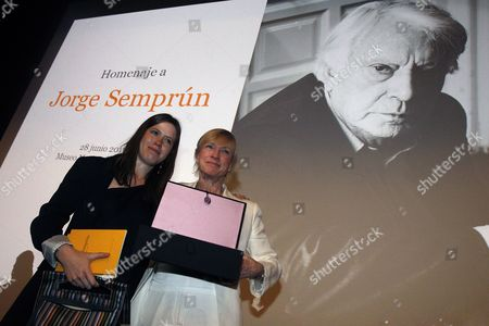 Cecile Ledesman (l) and Dominique Ledesman Granddaughter and Daughter of Late Spanish Writer Jorge Semprun Pose For the Media During a Tribute to Semprun at the Prado Museum in Madrid Spain 28 June 2011 Semprun Died on 07 June 2011 Spain Madrid
