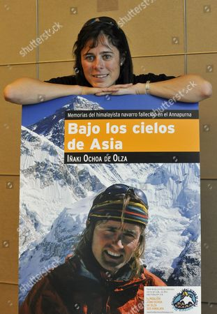Spanish Climber Edurne Pasaban Poses During the Presentation of the Book 'Under Asian Skies' in Madrid Central Spain on 02 May 2010 the Profits of the Posthumous Book by Mountaineer Inaki Ochoa De Olza who Died While He was Climbing Anapurna Mountain at the Himalayas in 2008 Will Go to a Humanitarian Project in Kathmandu Nepal where the Deceased Ochoa Planned to Spend His Life Spain Madrid
