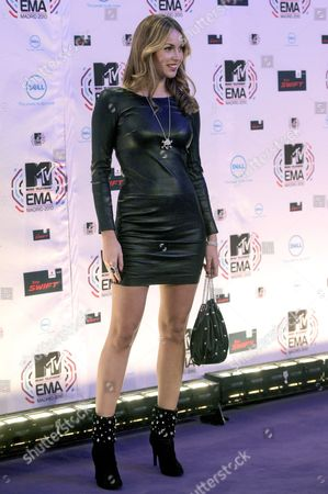 Spanish Model Priscila De Gustin Arrives at the 2010 Mtv Europe Music Awards (ema) Held at the Caja Magica in Madrid Spain 07 November 2010 Spain Madrid