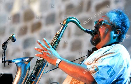 Us Tenor Saxophonist Joe Lovano Performs on Stage During His Concert at the 44th San Sebastian Jazz Festival in San Sebastian Spain 24 July 2009 the Festival Runs Until 26 July Spain San Sebastian