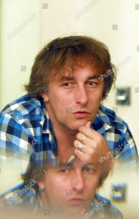 French Musician and Composer Yann Tiersen Talks with Journalists During an Interview Before His Concert at the First Edition of the Music World Festival of Granada Southern Spain 25 July 2009 Spain Granada