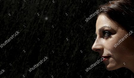 Portuguese Fado Artist Katia Guerreiro Looks on During the Presentation of 'Nas Asas Do Fado' a Double Album of Her Favorite Compositions and Duets with Artists Such As Rui Veloso Amina Alaoui Y Simone De Oliveira to Mark Her 10th Year on the Stage in Madrid Spain 14 April 2011 Spain Madrid