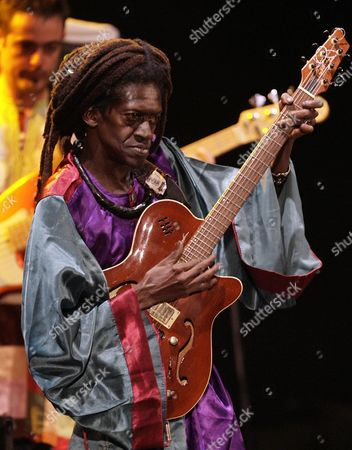 Senegalese Musician Cheikh Lo Performs on Stage During Music Festival 'La Mar De Musicas 2011' Murcia Spain on 23 July 2011 Spain Cartagena