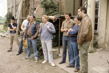 'Auf Wiedersehen Pet'  - Christopher Fairbank, Pat Roach, Kevin Lloyd, Timothy Spall, Kevin Whately, Tim Healy and Jimmy Nail.