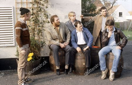 'Auf Wiedersehen Pet'  - Christopher Fairbank, Pat Roach, Timothy Spall, Tim Healy, Jimmy Nail and Kevin Whately.