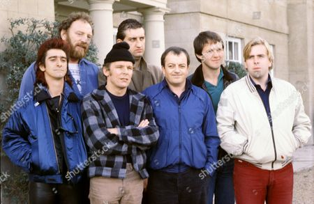 'Auf Wiedersehen Pet'  - Gary Holton, Pat Roach, Christopher Fairbank, Jimmy Nail, Tim Healy, Kevin Whately and Timothy Spall