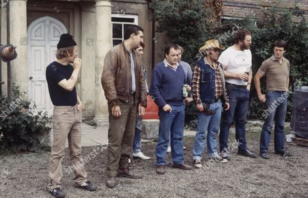 'Auf Wiedersehen Pet'  - Christopher Fairbank, Jimmy Nail, Gary Holton, Tim Healy, Timothy Spall, Kevin Lloyd, Pat Roach and Kevin Whately.