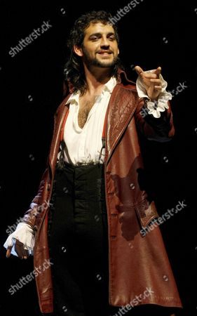 Spanish Actor Fran Perea is Pictured During a Dress Rehearsal of 'Don Juan El Burlador De Sevilla' (don Juan the Seville's Mocking) at the Fine Art Teather in Madrid Spain 11 November 2008 the Play Will Be Inaugurated 12 November Spain Madrid