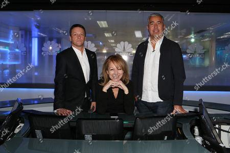 Stock Picture of Pete Wild from Goldman Sachs, branding guru Rita Clifton CBE and creator of Box Park pop up shops Roger Wade.