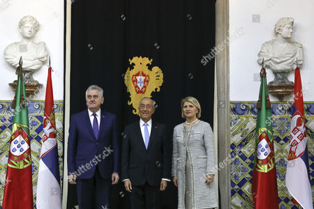Tomislav Nikolic, Dragica Nikolic and Marcelo Rebelo de Sousa