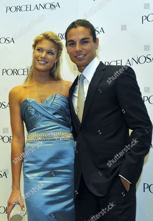Spanish Singer Julio Iglesias Jr (r) Poses Next to His Fianc? Czech Model Charisse During the Opening of a Store From the Spanish Enterprise Porcelanosa in Mexico City Mexico 22 April 2010 Julio Iglesias Jr Announced Their Wedding Which is Expected to Be Next Summer in Spain Mexico Mexico City
