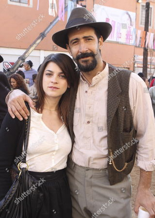 Mexican Actors Irene Azuela (l) and Jose Maria Yazpik (r) During the Filming 'El Atentado' (the Attack) at the Begining of the Shooting at Historic Down Town Site in Mexico City Mexico on on 23 November 2009 the Film Recreates the Mexican Society Life of the 19 Century and Will Be Part of Next Year's Celebrations of the Independence Bicentennial of the Country is Directed by Jorge Fons and is Based on the Novel 'Expediente Del Atentado' (attack Files) Which Recreates the 1897 Story of an Attack on Mexican Dictator Porfirio Diaz Mexico Mexico City