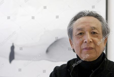 Chinese Literature Nobel Prize Gao Xingjian Poses During His Exhibition 'Nouvelles Encres' That Gathers His Recent Paintings in Indian Ink at the Senda Gallery in Barcelona Spain 31 March 2011 the Exhibition Runs From 31 March Until 14 May 2011 Spain Barcelona