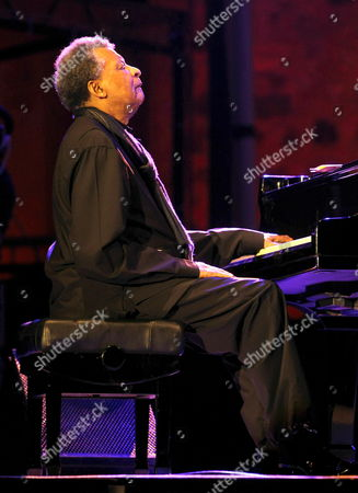 South African Pianist Abdullah Ibrahim Performs on Stage on the Second Day of the 46th Jazz Festival of San Sebastian Northern Spain on 22 July 2011 Spain San Sebastian
