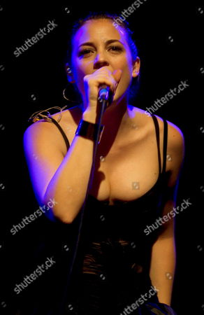 Spanish Actress and Singer Leonor Watling Leader of the Band 'Marlango' Performs Late Saturday 29 October 2005 During the Greenspace Festival in Valencia Eastern Spain Spain Valencia