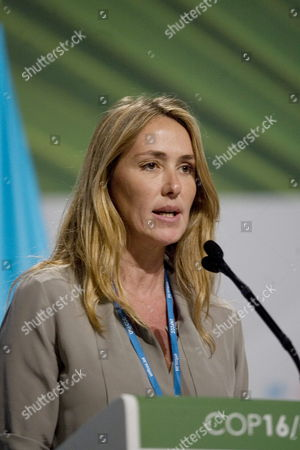 Italian Minister For Environment Land and Oceans Stefania Prestigiacomo Speaks During a High Level Meeting in Cancun Mexico on 09 December 2010 During the Xvi Un Climate Change Summit Mexico Cancun