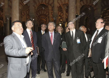 Secretary of State For the European Union Diego Lopez Garrido (c) Turkish General Secretary For the European Union Haluk Ilicak (2-l) Among Other Participants in a High Level Eu Meeting on 'Religious Freedom in Democratic Societies' Visit Great Mosque-cathedral in Cordoba Southern Spain 03 May 2010 Some 150 Experts Gather in Cordoba 3-4 May 2010 in the Meeting Organized by Spain's Presidency of the Eu and Alliance of Civilisations to Debate How to Battle Against Religious Radicalism and to Promote Freedom of Worship Spain Cordoba
