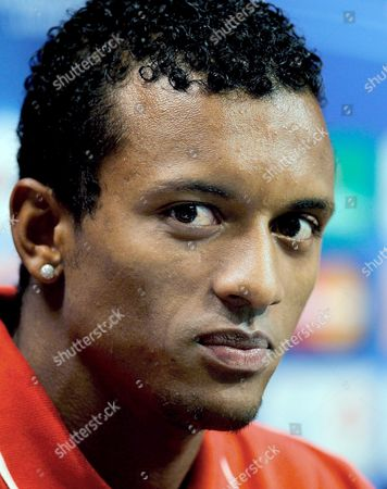 Manchester United?s Portuguese Lu?s Carlos Almeida Da Cunha 'Nani' Answers a Question During a Press Conference Held at the Mestalla Stadium in Valencia on 28 September 2010 Prior to Their Group C Champions League Soccer Match Against Valencia Cf on 29 September Spain Valencia