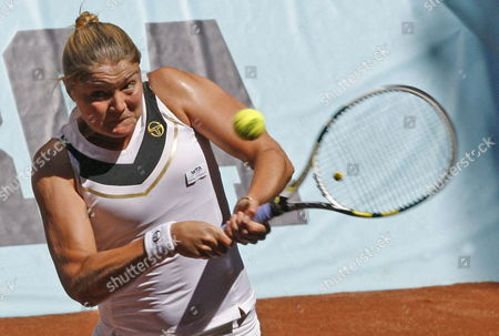 Russian Tennis Player Dinara Safina in Action During the Match Against German Julia Goerges in the Second Round at the Masters 1 000 Tennis Tournament at the Caja Magica in Madrid Central Spain on 04 May 2011 Spain Madrid