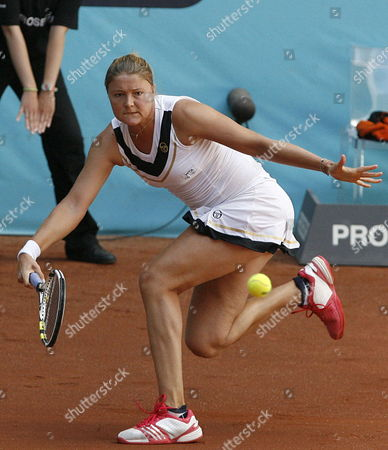 Stock Picture of Russian Tennis Player Dinara Safina During the Match Against German Julia Goerges in the Second Round at the Masters 1 000 Tennis Tournament at the Caja Magica in Madrid Central Spain on 04 May 2011 Spain Madrid