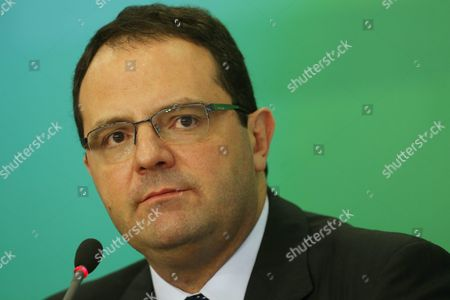 New Brazilian Minister of Treasury Nelson Barbosa Speaks During a Press Conference in Brasilia Brazil 18 December 2015 Barbosa Replace Joaquim Levy who Resigned on 18 December 2015 Amid the Economic and Political Crisis in the Country Barbosa was the Minister of Planing Brazil Brasilia