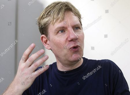 Stock Image of Danish Environmentalist Bjorn Lomborg Speaks During an Interview in Santiago Chile 20 January 2016 Lomborg Said the Climatic Agreement Reached in Paris is a Waste of Money and Call For Investment in the Renewable Energies Better Than Spending Money Reducing the Carbon Emission Chile Santiago
