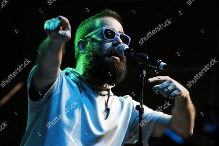 Syrian-born Us Singer Sebu Simonian of the Indie Pop Duo Capital Cities Performs During the 'Bowlzilla' Festival on the Coast of Valparaiso Chile 16 January 2016 World Skating Stars Participated in the Sport Music Festival the First Great Meeting of Music and Skate in South America Chile Valparaiso