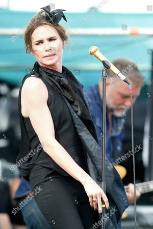 Singer Nina Persson of the Swedish Pop Group the Cardigans Performs on Stage During the Primavera Fauna 2015 Music Festival in Santiago De Chile Chile 14 November 2015 Morrisey the Cardigans and Empire of the Sun Are the Main Band Programmed at the Festival Chile Santiago De Chile