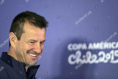 Brazil's Head Coach Carlos Dunga Attends a Press Conference at Monumental Stadium in Santiago Chile 16 June 2015 Brazil Will Play Colombia in the Copa America 2015 Group C Soccer Match on 17 June Chile Santiago De Chile