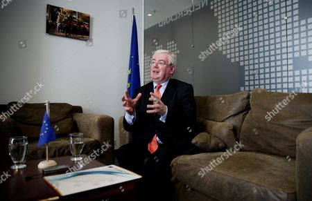 Eamon Gilmore Eu Special Envoy For the Colombian Peace Process Speaks During an Interview with the Agencia Efe News Agency in Bogota Colombia 21 January 2016 Gilmore Said That in the Irish Peace Process the Liberation of Prisoners Contributed to the Construction of Confidence in the Process and Helped to Settle the Agreement and Achieve the Peace It was Reported Tha a Group of 30 Guerrilleros of the Revolutionary Armed Forces of Colombia (farc) Will Be Released From Prison Soon As a Gesture to Increase the Confidence in the Peace Negotiations Between Farc and the Colombian Government Colombia Bogota