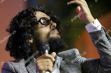 American-born Puerto Rican Musician Robi Draco Rosa Gestures As He Speaks During the Third Day of the Hay Festival Cartagena De Indias 2016 in Cartagena Colombia 30 January 2016 the Festival Runs From 28 to 31 January 2016 Colombia Cartagena