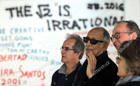 Iranian Filmmaker Abbas Kiarostami (2-l) Visits the International Film School of San Antonio De Los Banos De Cuba in Artemisa Cuba 26 January 2016 Kiarostami Inaugurated a Workshop at the Film School the Same Day Cuba San Antonio De Los Banos