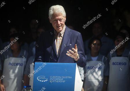 Editorial image of El Salvador Usa Bill Clinton - Nov 2015