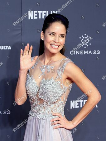 Mexican Actress Ana Claudia Talancon Poses For Pictures in the Press Room During the Fenix Ibero-american Film Awards in Mexico City Mexico Late 25 November 2015 Mexico Ciudad De Mexico