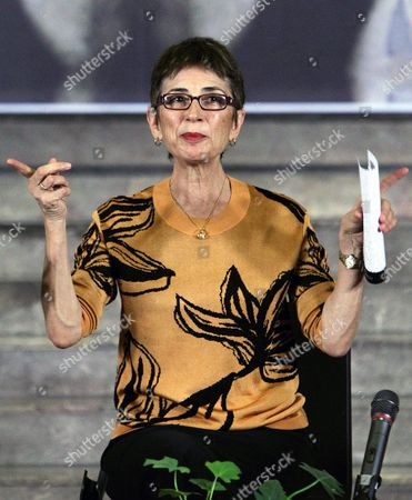 Pilar Del Rio the Widow of Late Portuguese Writer and Nobel Prize in Literature Jose Saramago Participates at the Forum 'The Human Responsibilities' in Mexico City Mexico 26 June 2015 Mexico Mexico City