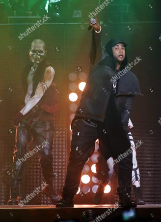 Stock Photo of Puerto Rican Singer Don Omar Performs on Stage During His Concert 'Daddy Yankee Vs Don Omar the Kingdom' at Jose Miguel Agrelot Coliseum in San Juan Puerto Rico 04 December 2015 Puerto Rico San Juan